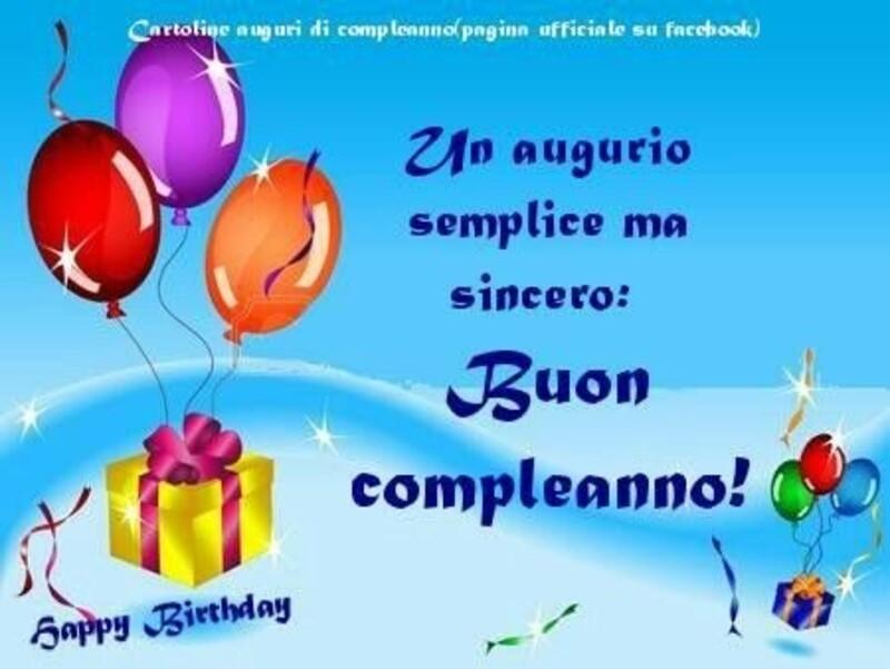 Un augurio semplice, ma sincero: Buon Compleanno
