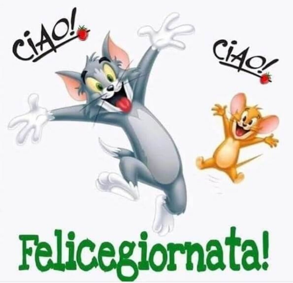 Ciao! Ciao! Felice giornata
