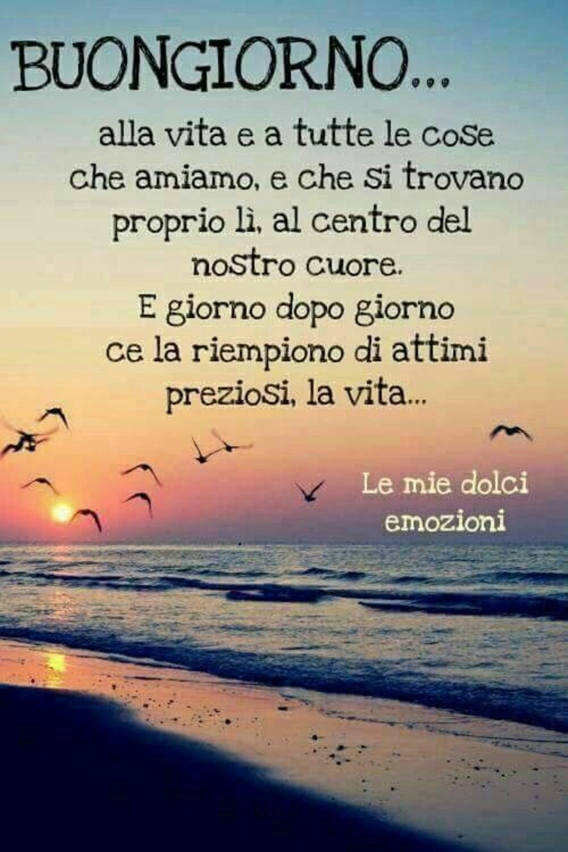 Buongiorno alla vita e a tutte le cose che amiamo, e che si trovano proprio lì al centro del nostro cuore. E giorno dopo giorno ce la riempiono di attimi preziosi, la vita...