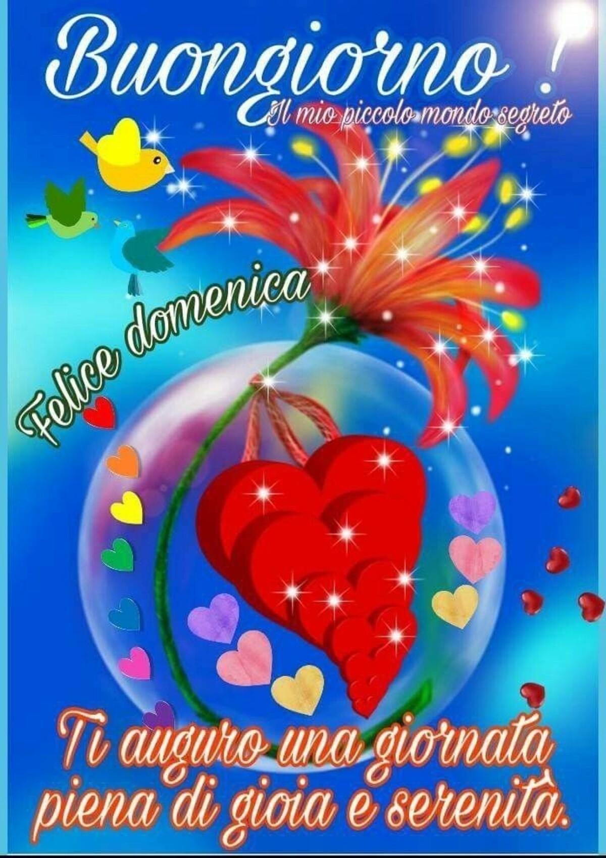 Buongiorno! Felice domenica! Ti auguro una giornata piena di gioia e serenità