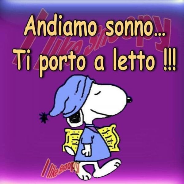 Immagini divertenti Buonanotte con Snoopy