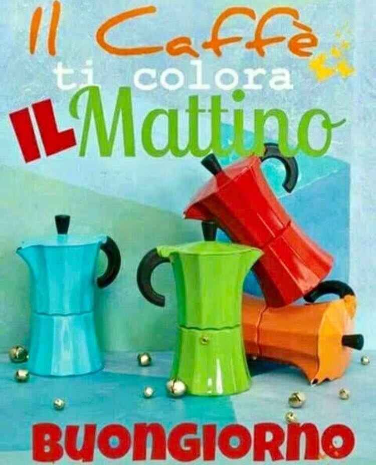 """""""Il caffè ti colora il mattino. Buongiorno"""""""