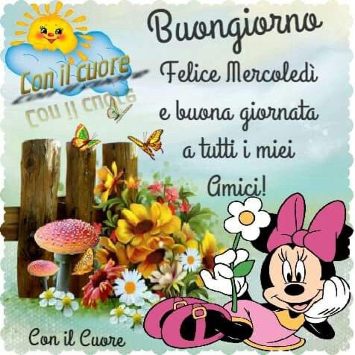 Buongiorno felice mercoledì e buona giornata a tutti i miei amici con il cuore