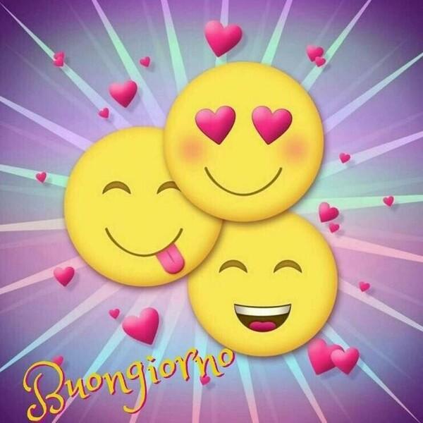 Buongiorno con le emoticons