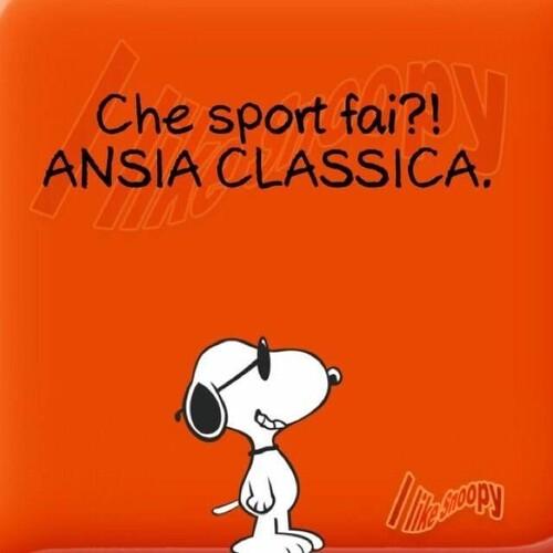 Che sport fai ?! ANSIA CLASSICA ! - Vignette con Snoopy
