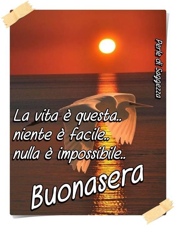 La vita è questa...niente è facile...nulla è impossibile... Buonasera