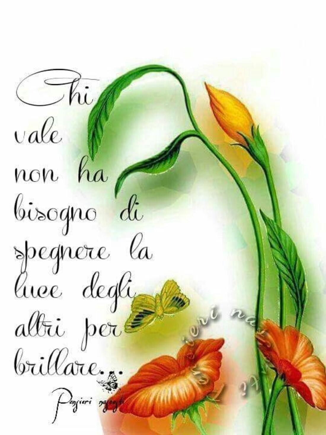 Chi vale non ha bisogno di spegnere la luce degli altri per brillare...