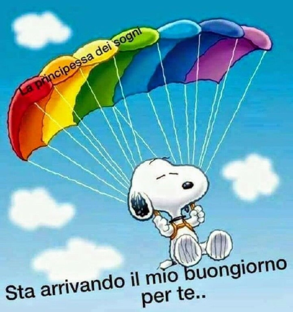 """""""Sta arrivando il mio Buongiorno per Te..."""" - Snoopy"""