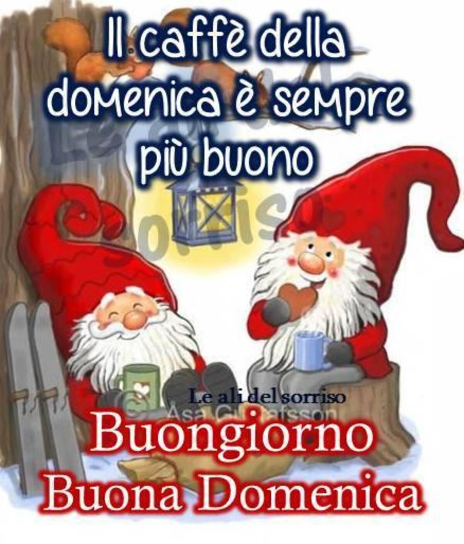 """""""Il caffè della Domenica è sempre il più buono... Buongiorno e Buona Domenica"""" - immagini natalizie"""