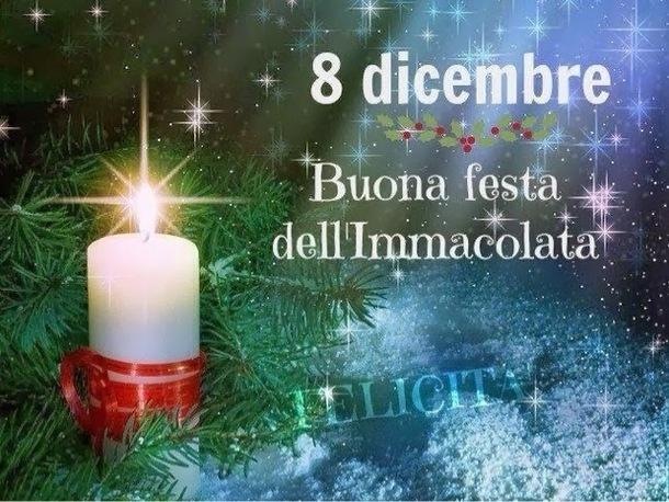 8 Dicembre Buona Festa dell'Immacolata